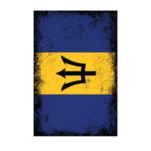 Barbados Flagge Barbados Fahne Neptun Dreizack
