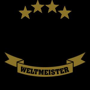 Weltmeister 4 Sterne Deutschland Fussball 2014