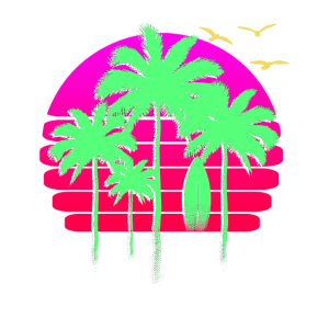 Sunset Beach Palm Tree Summer Vacation Holiday T S