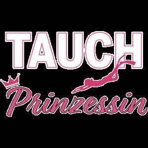 Tauchprinzessin Taucher Frauen Pink Krone Geschenk