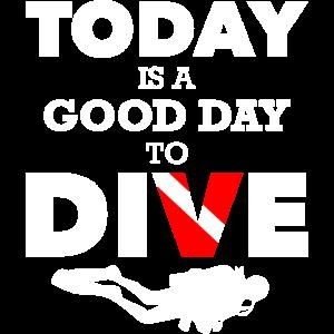 Tauchen Heute Guter Tag Taucher Meer Geschenk