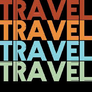 Retro Reise Reisen Schrift