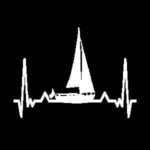 heartbeat segeln segler wind geschenk kapitän