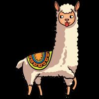 Lama Alpaka Süßes Lustiges Afrika Tier Geschenk