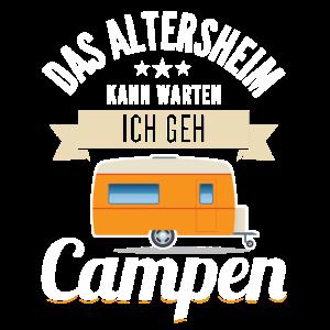 Camping Design für Rentner Lustiges Design Pension