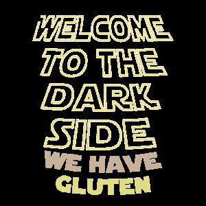 Willkommen auf der dunklen Seite, wir haben Gluten-Pizza-Geschenk