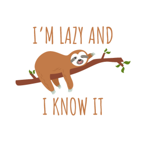 Faultier chillen schlafen Baum lustiger Spruch