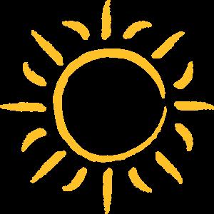 Schöne Gelbe Sonne