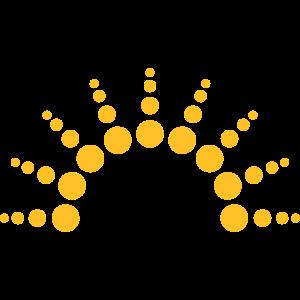 Halbkreis Kreise Punkte Sonne Logo