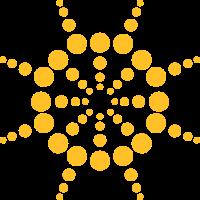 Kreise Punkte Sonne Logo Design