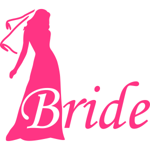 bride silhouette hen night
