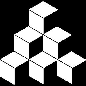 Würfel Pyramide