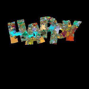 Happy WortKunst Geschenk nerds Trend Style