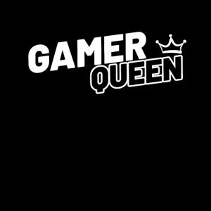 Gamer Queen Zocker T-Shirt für Frauen Damen Nerd