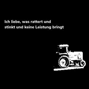 Alter Traktor Trecker Schlepper Landwirt