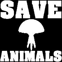 Rettet die Tiere mit Qualle