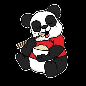 Gebratener Reis und Baby-Panda