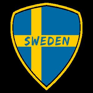 Schweden Wappen / Geschenk Skandinavien