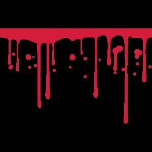 Blut Tropfen Unterstrich Linie