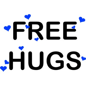Free HUG coeur bleu