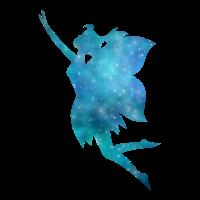 Fairy Galaxy Silhouette Türkis