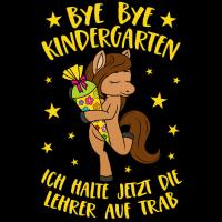 Pferd Pony Bye Bye Kindergarten Einschulung Schule