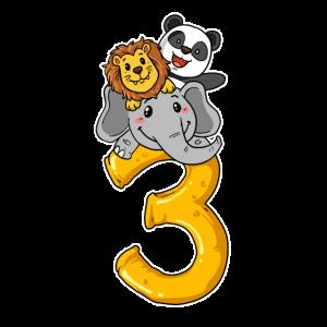 3. Geburtstag 3 Jahre Tier Safari Geburtstagsfeier