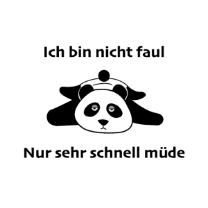 Panda Müde Faul Energiesparmodus Geschenk