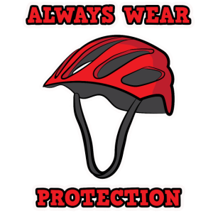 Funny Fahrrad Always wear Protection Damen Herren
