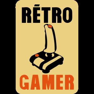 Retro Gamer Joystick Joystick altes Logo