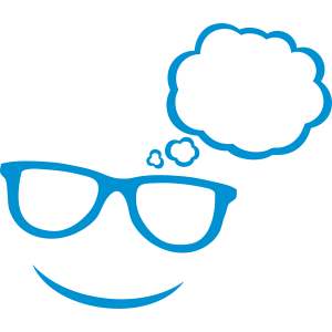 Sonnenbrillen-Blase