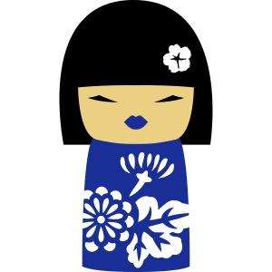 Motif Poupée Japonaise 3