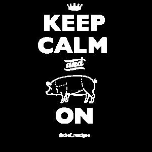 Behalten Sie Ruhe und Schweinefleisch auf Chef Britt Rescigno