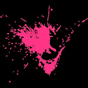 Farbklecks mit Spritzern