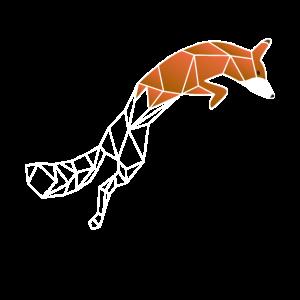 Fuchs Wolf Fennec Fox niedlich geometrisch