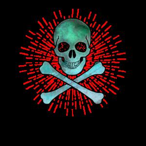 Piratenkopf Totenkopf von einem Piraten