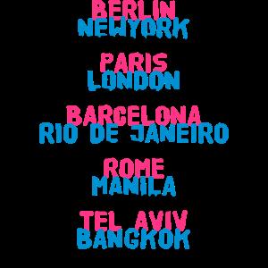 Berlin New York Istanbul Paris London Tokyo