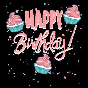 Happy Birthday mit Cupcakes