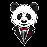 Panda im Anzug niedliches Pandabär Geschenk