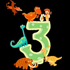 3. Geburtstag Geschenk Dino Dinosaurier