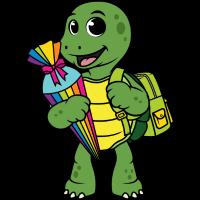 Schildkröte Schulkind Zuckertüte Einschulung Kind