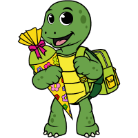 Schildkröte Einschulung Schulkind Zuckertüte Kind