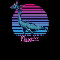 Vintage Retro Neon 80er Jahre Loch Ness Monster Nessie