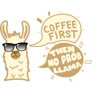 No Prob Llama Coffee Lama Coffee Geschenk