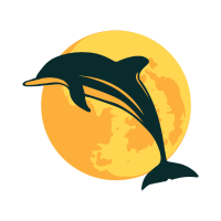 Delfin Mond springender Delfin Geschenk