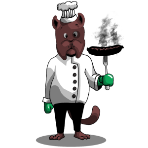 Cartoon Comic Grillen Grillmeister