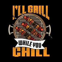 Grill and Chill BBQ Geschenk Design für alle