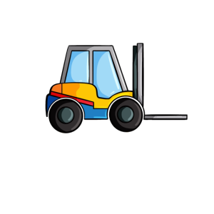 Baustelle Fahrzeug Gabelstapler