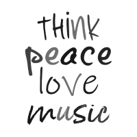 THINK PEACE LOVE MUSIC