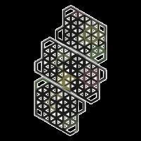 Geometrie Tattoo Muster Shirt Psychedelisch Goa